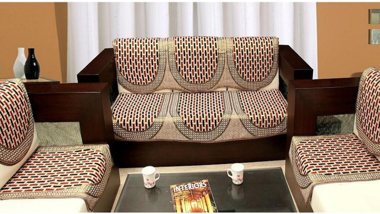 Zesture Jacquard Sofa Cover Price In India Buy Zesture