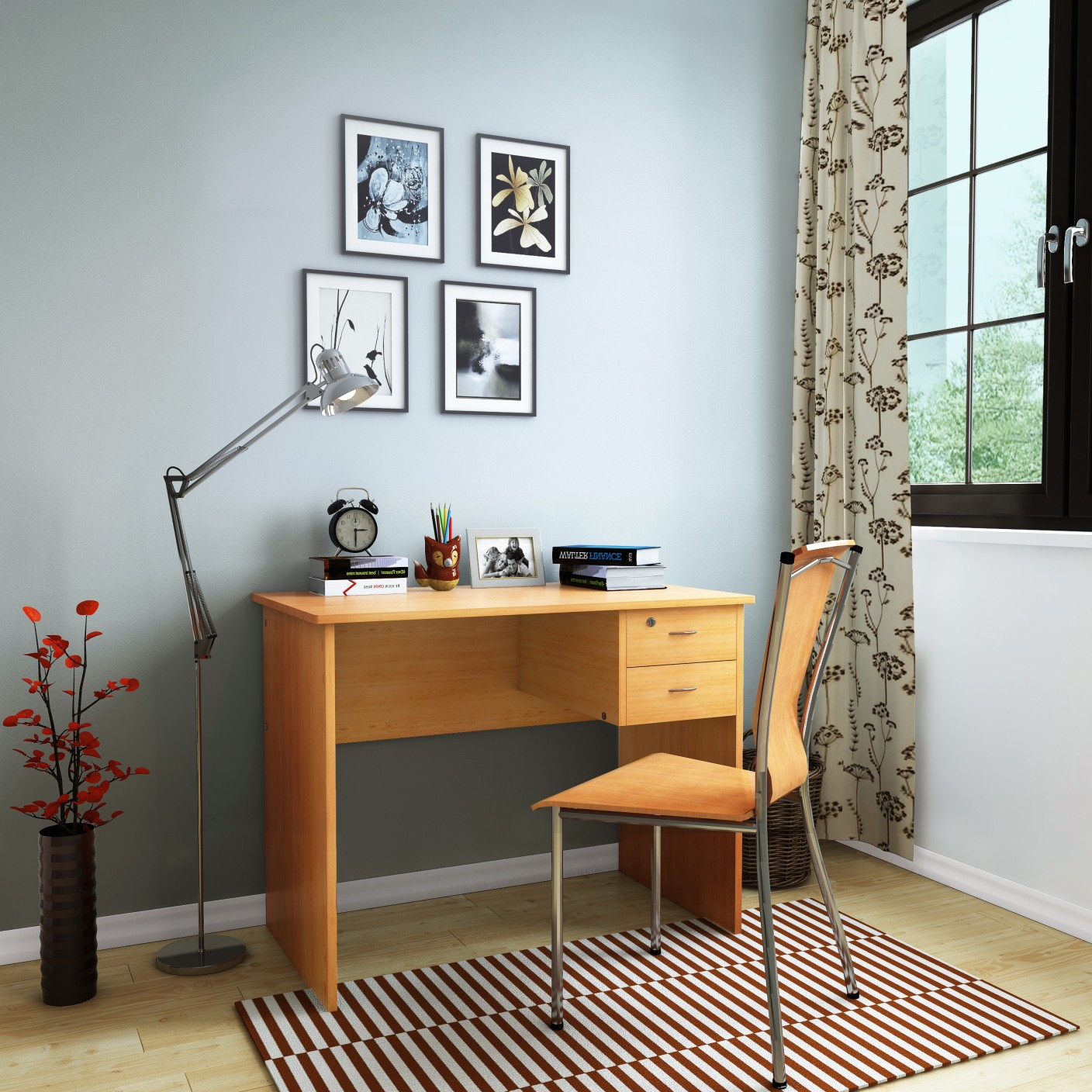 HomeTown Simply Engineered Wood Study Table Price in India Buy