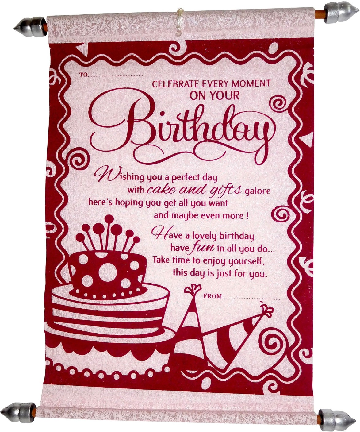 Siddhi gifts birthday gifts for husband happy birthday scroll husband happy birthday scroll greeting card share kristyandbryce Images