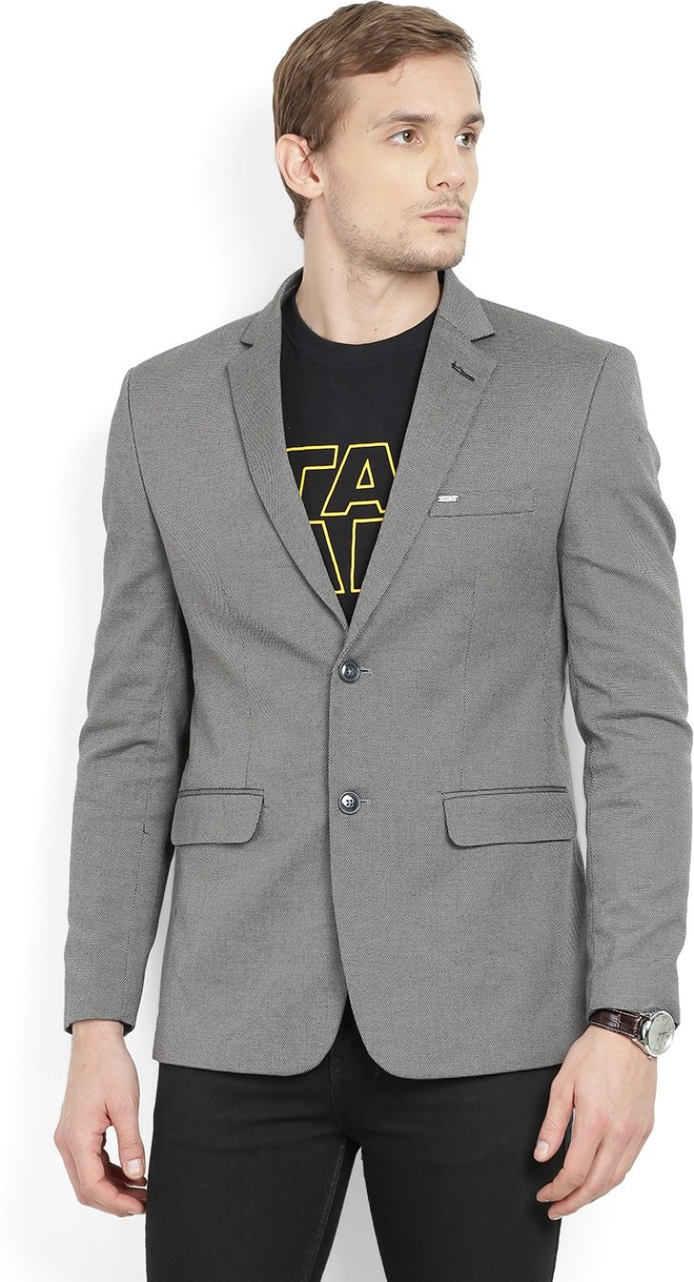 Numero Uno Solid Tuxedo Style Casual Men 39 S Blazer Buy