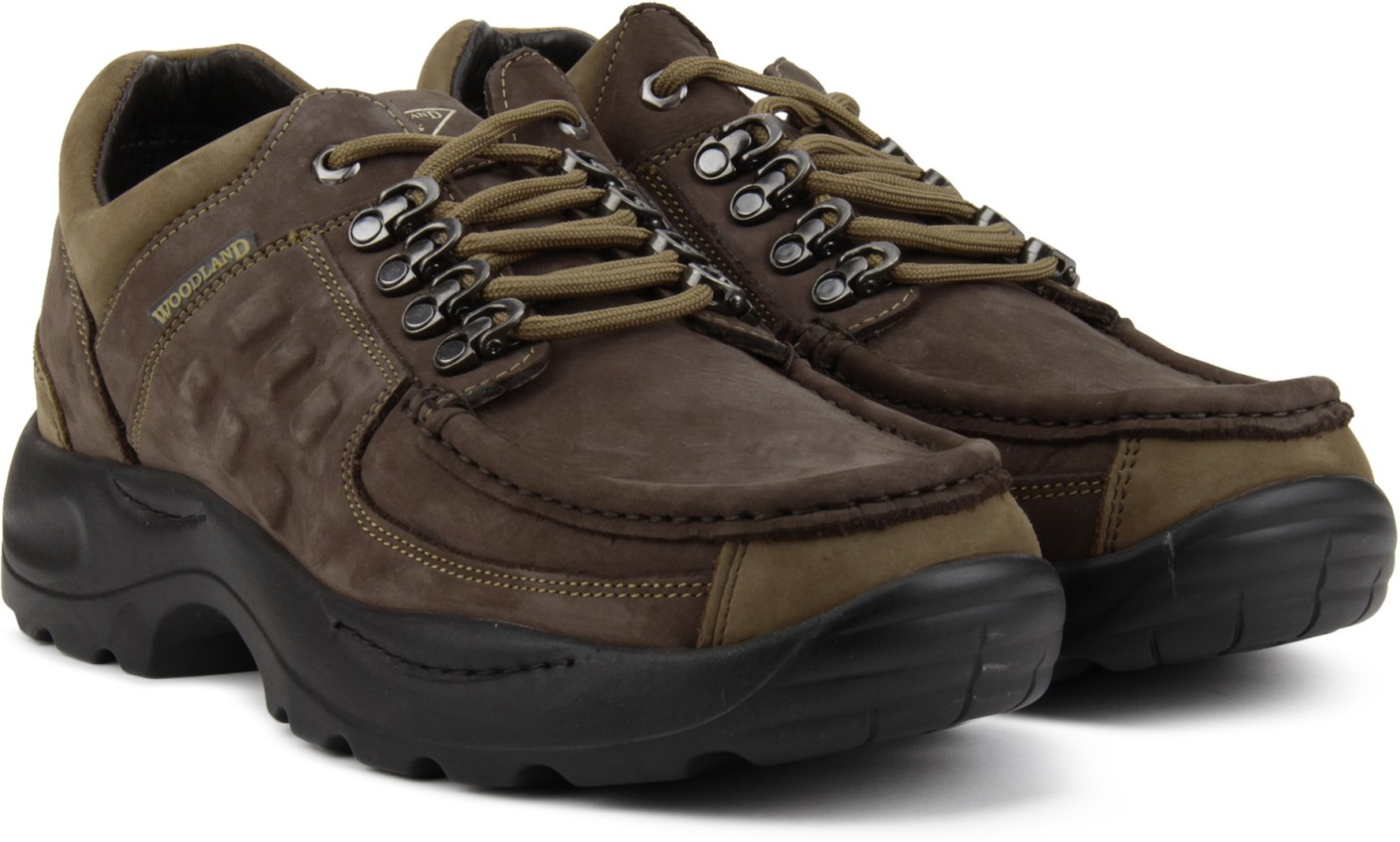 Woodland Leather Outdoor Shoes For Men - Buy RB BROWN ...