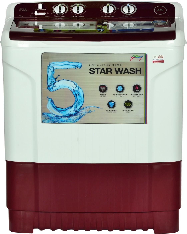 Godrej 7 Kg Semi Automatic Top Load Washing Machine Maroon
