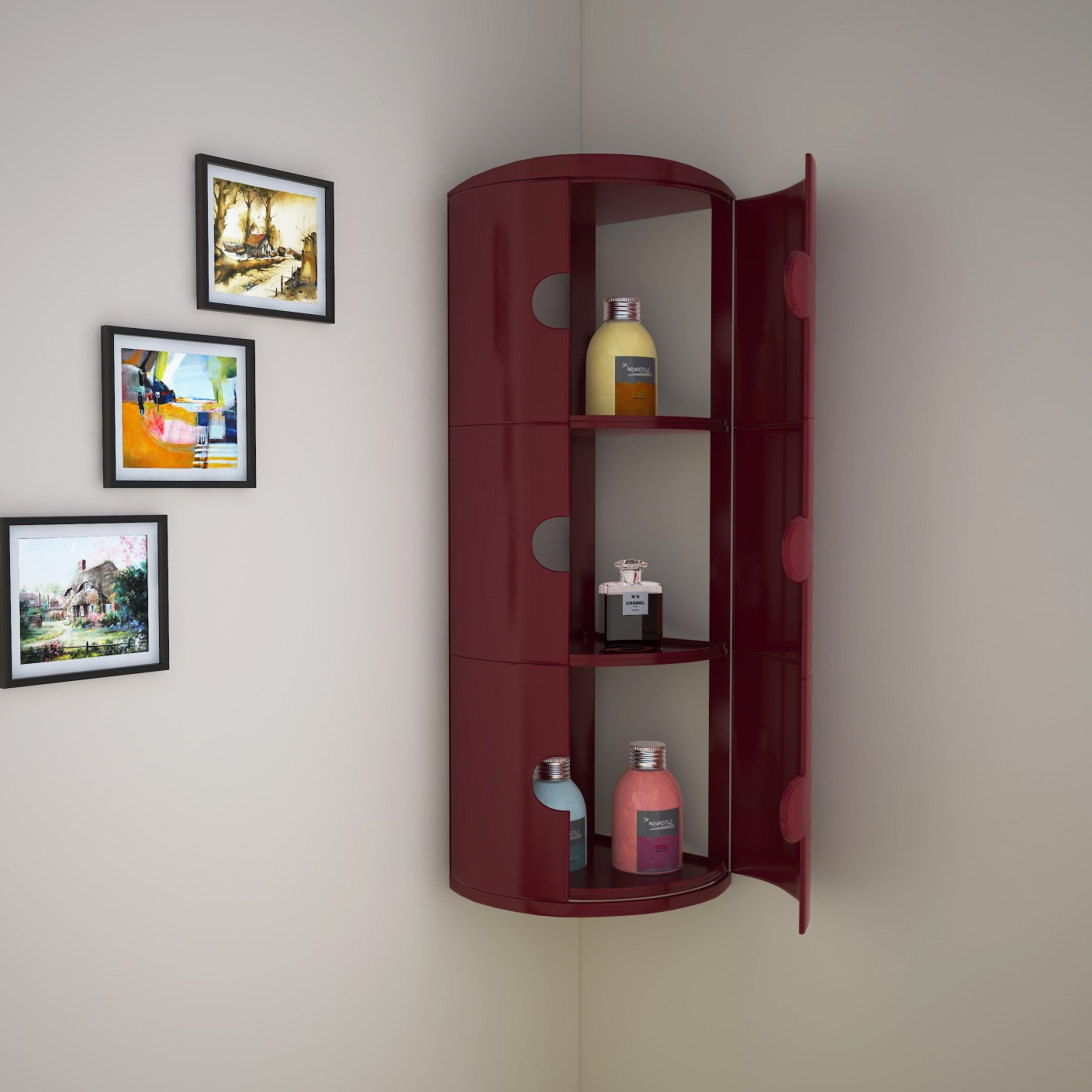 nilkamal blooms plastic wall mount cabinet price in india - buy