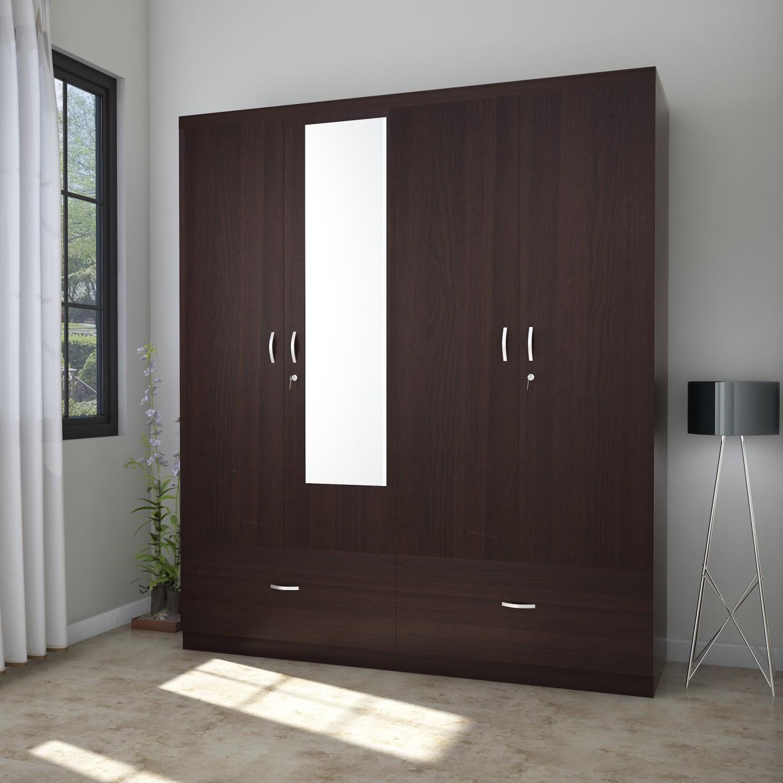 Hometown Utsav Engineered Wood 4 Door Wardrobe Price In