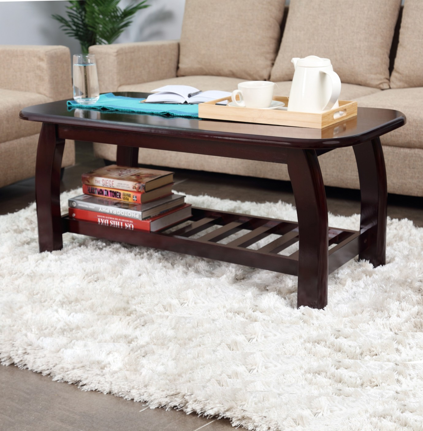 Solid Wood Coffee Table Online India: Woodness Solid Wood Coffee Table Price In India
