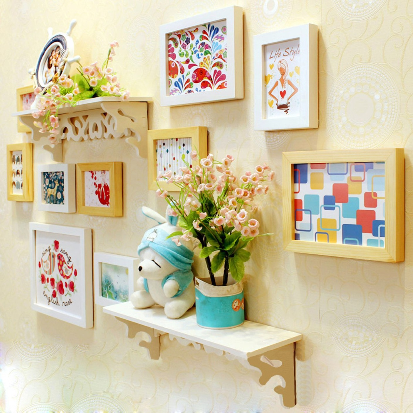 Attractive Colorful Wall Frames Picture Collection - Wall Art Ideas ...