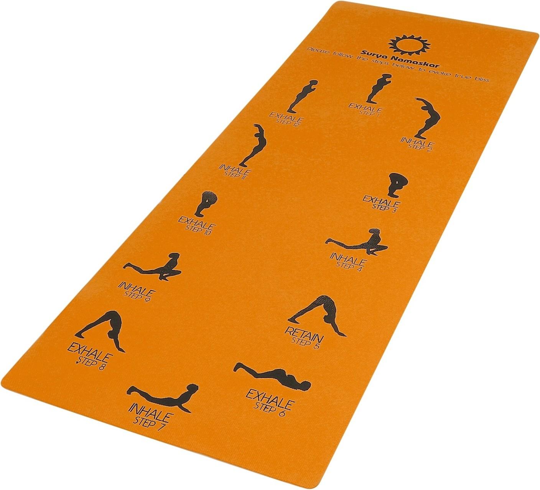 Aerolite Sun Salutation 24 X 72 Orange 6.5 Mm Yoga Mat