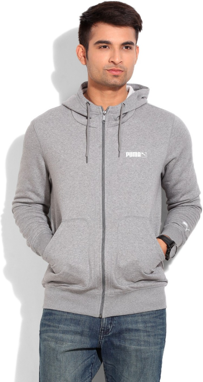 Puma Full Sleeve Solid Men's Jacket - Buy medium gray