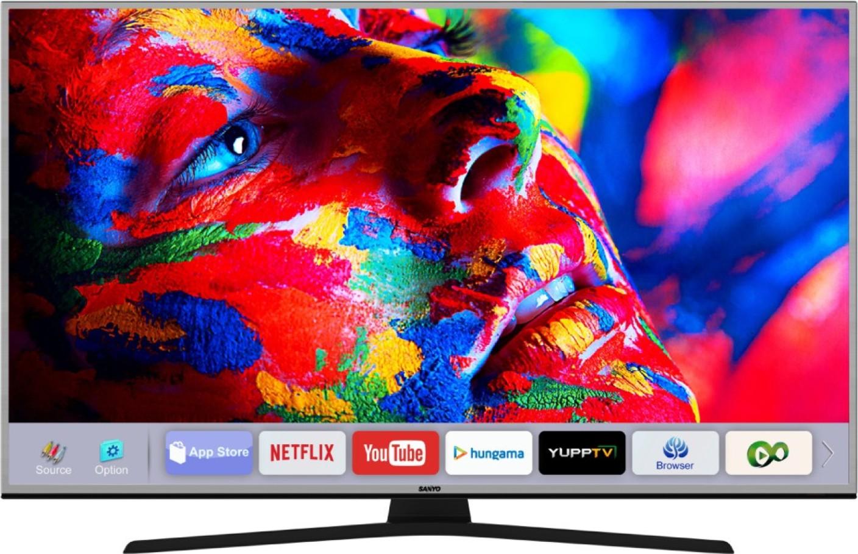 sanyo 139 cm 55 inch ultra hd 4k led smart tv online at best prices in india. Black Bedroom Furniture Sets. Home Design Ideas