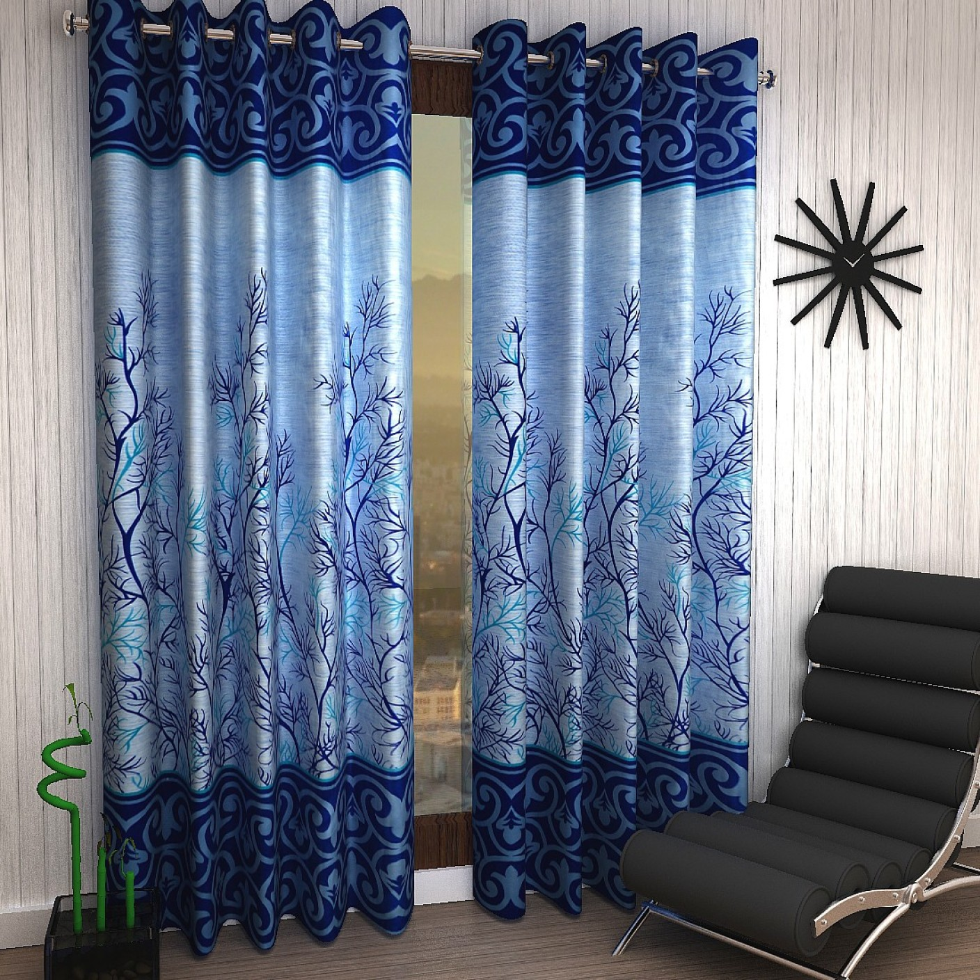 Home Sizzler Polyester Window Curtain 150 Cm 4 Ft Pack