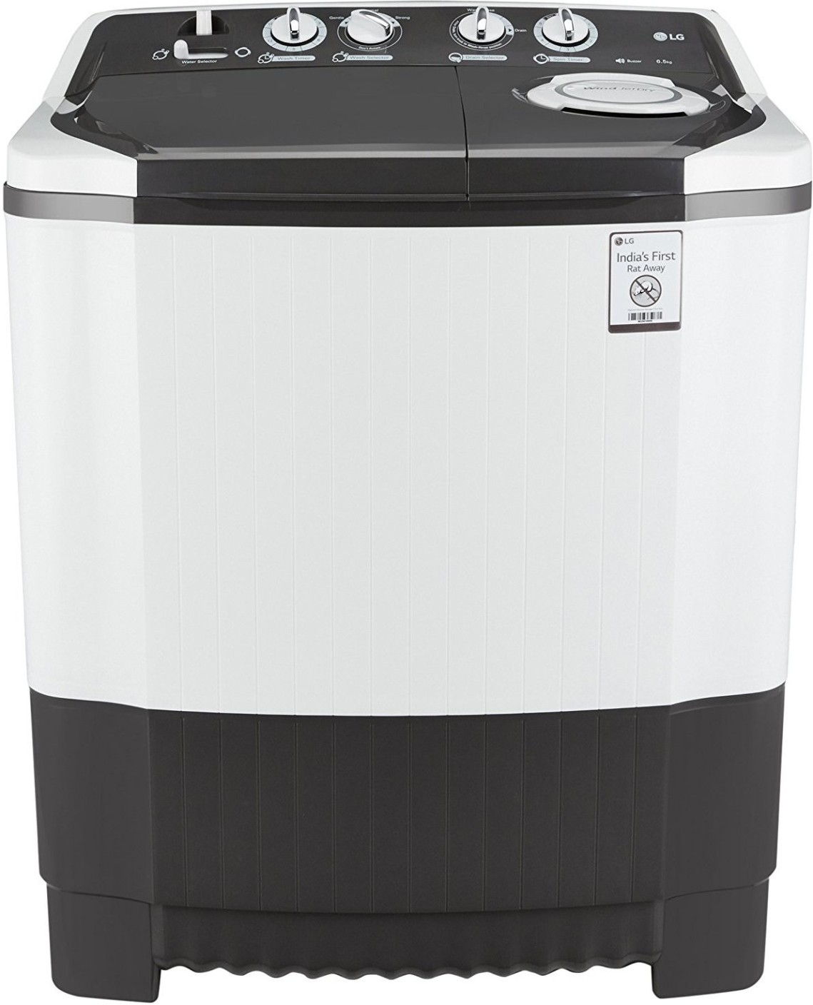 LG 6.5 kg Semi Automatic Top Load Washing Machine Grey ...