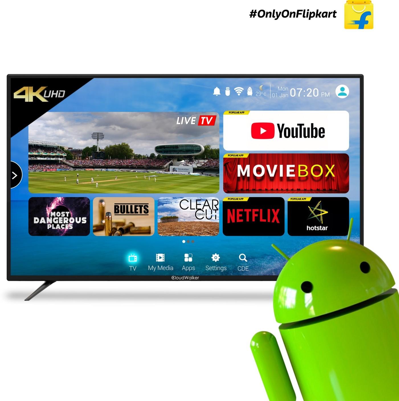 cloudwalker 165 cm 65 inch ultra hd 4k led smart tv online at best prices in india. Black Bedroom Furniture Sets. Home Design Ideas