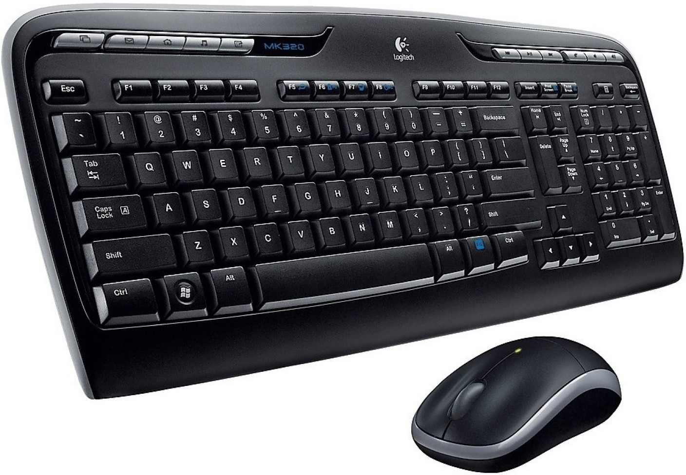 logitech mk320 wireless keyboard and mouse combo logitech. Black Bedroom Furniture Sets. Home Design Ideas
