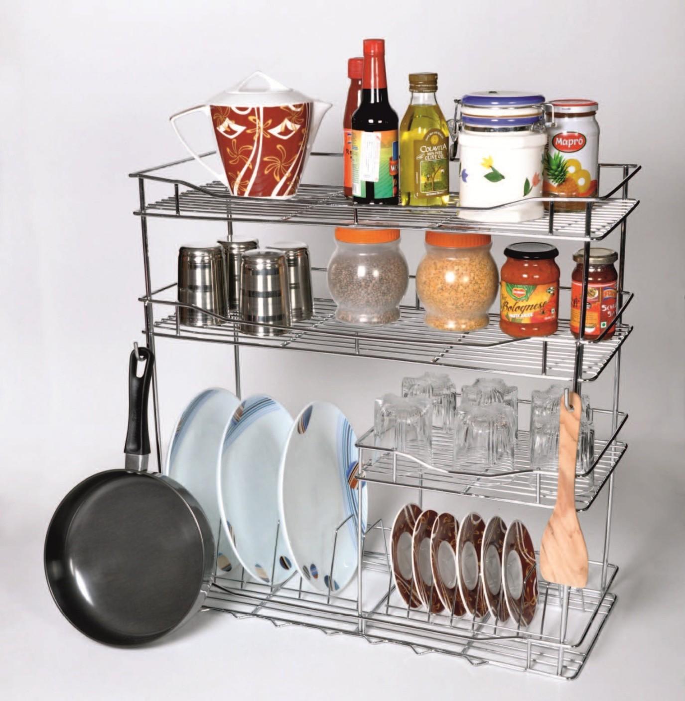 Home maker bartan rack stainless steel kitchen rack price for Online home maker