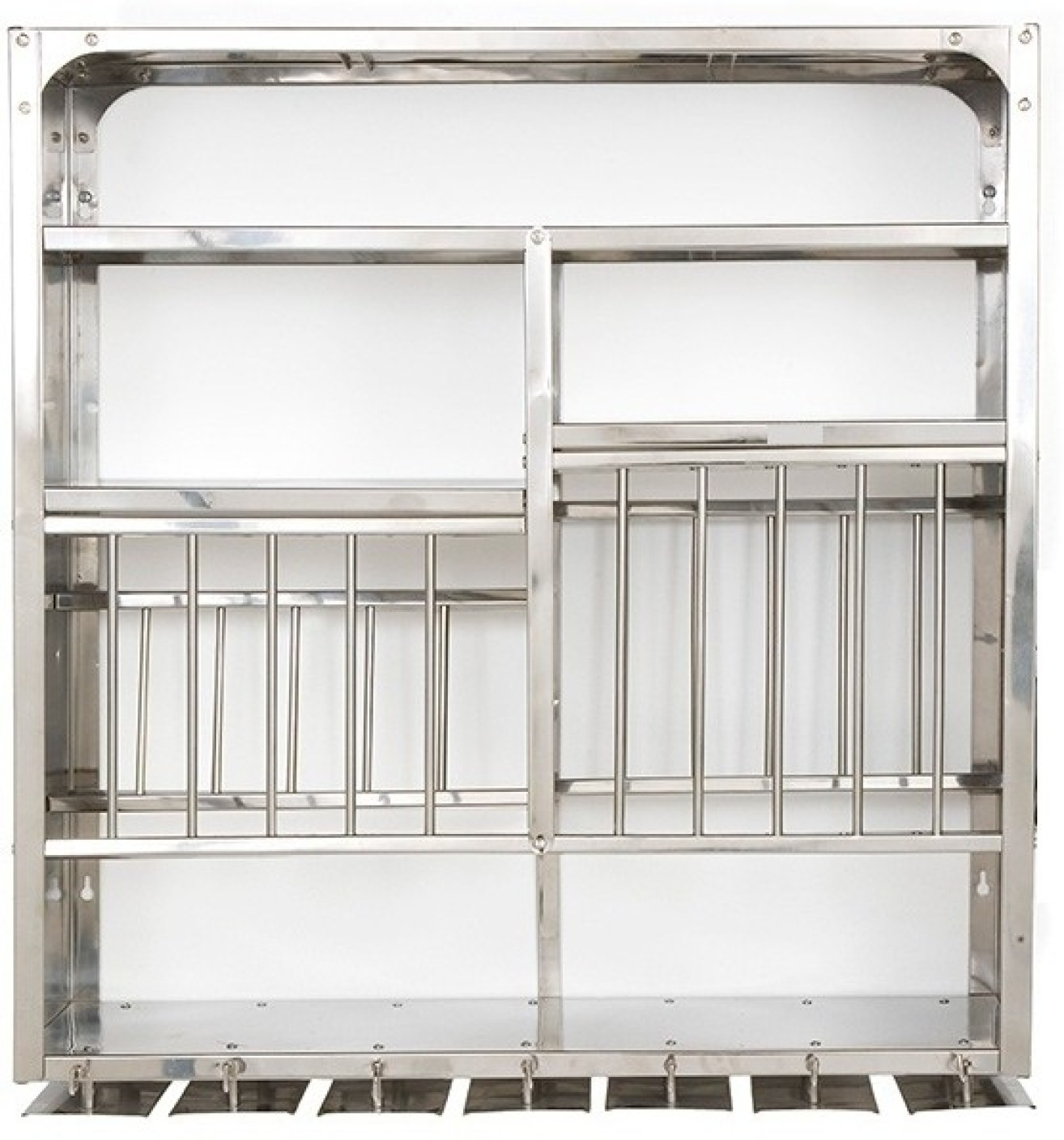 Kitchen Shelves And Racks Online: Bharat 30 X 30 Stainless Steel Kitchen Rack Price In India