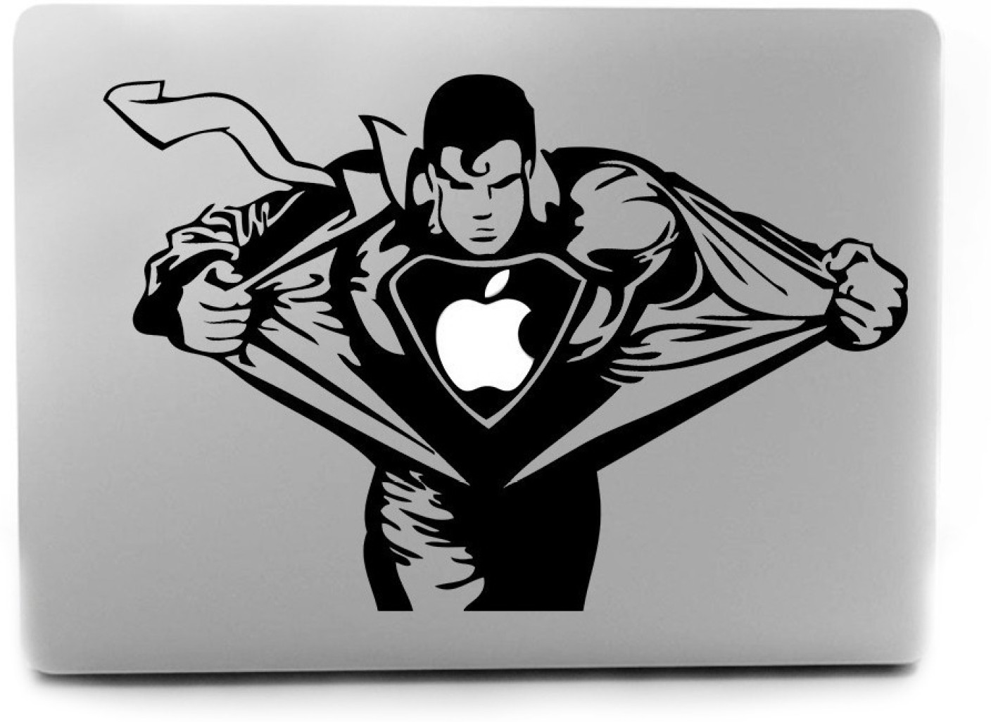 automers superman apple sticker skin high quality vinyl laptop share