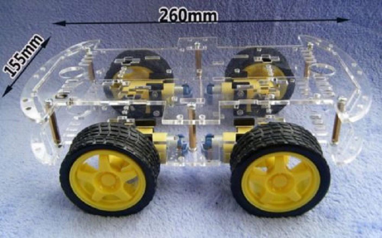 Xcluma wd robot smart car chassis kit four wheel drive dc