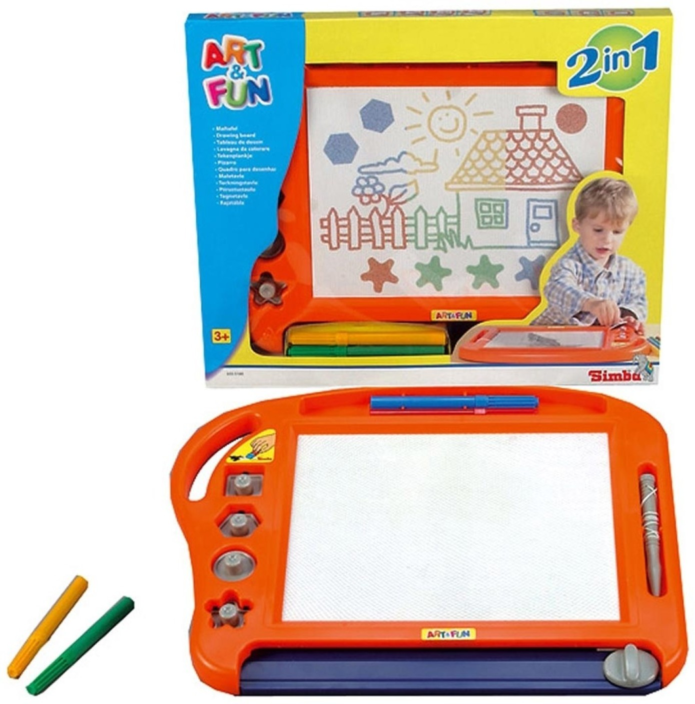 Art Educational Toys : Simba art and fun colour magnetic drawing board price in