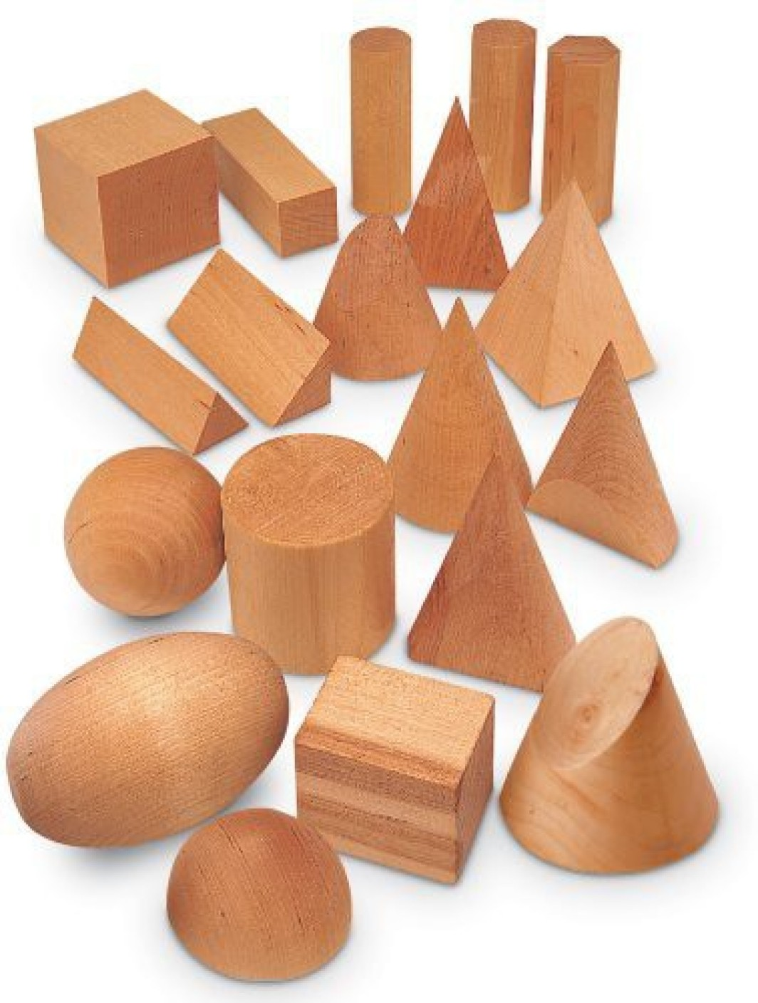Learning Resources Wood Geometric Solids. ON OFFER