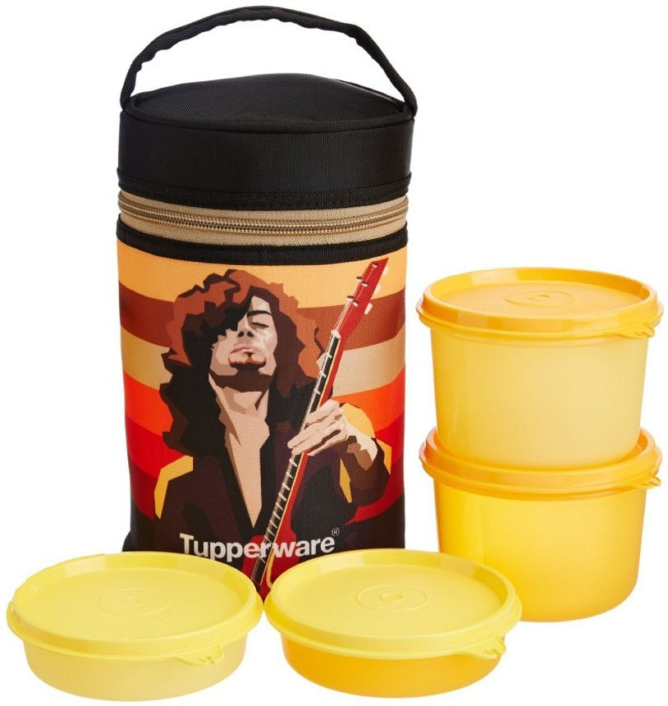 tupperware rocker 4 containers lunch box. Black Bedroom Furniture Sets. Home Design Ideas