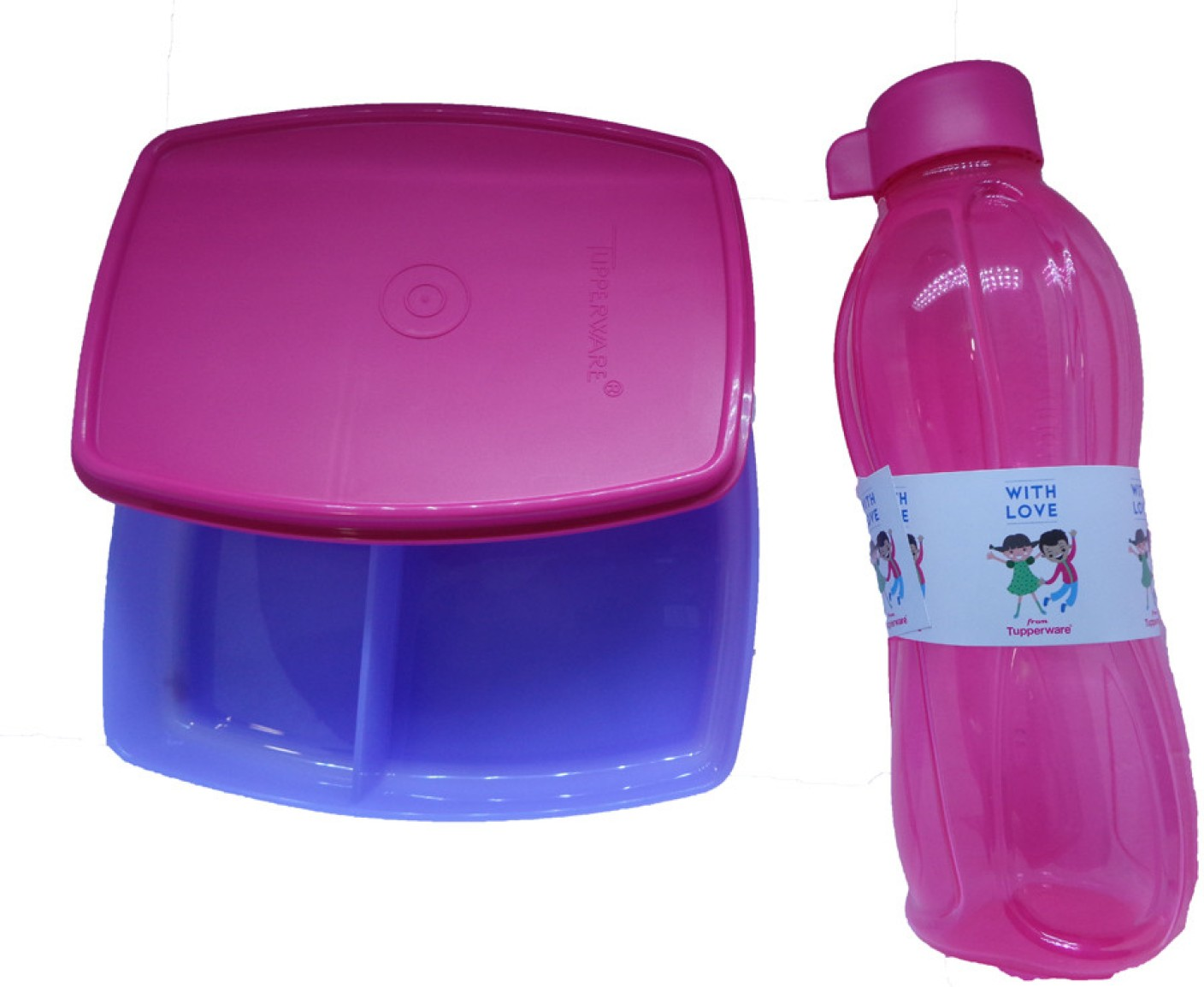 tupperware kids 2 containers lunch box. Black Bedroom Furniture Sets. Home Design Ideas