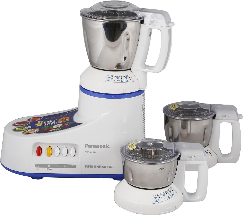 Panasonic Kitchen Appliances Panasonic Mx Ac310 550 W Mixer Grinder Price In India Buy