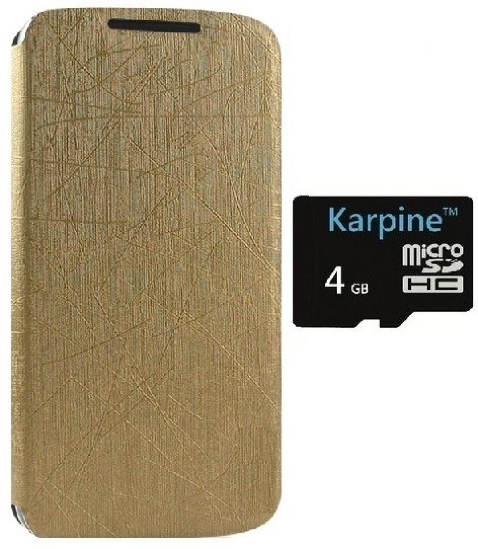 Karpine Lenovo A6000 Flip Cover Amp Micro SD Card 4 GB