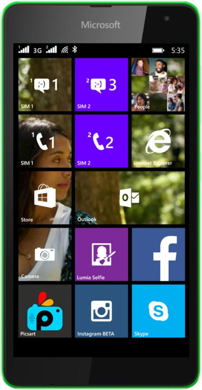 Microsoft lumia 535 dual sim white quad core 1 2ghz unlocked cell - Compare