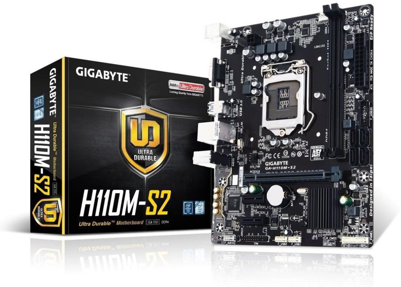 Gigabyte GIGABYTE MOTHERBOARD H110M-S2 Motherboard ...