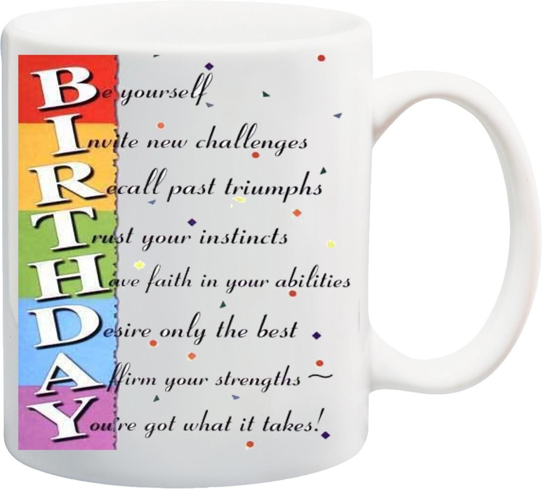 Awwsme Birthday Full Form Ceramic Mug Price in India - Buy Awwsme ...