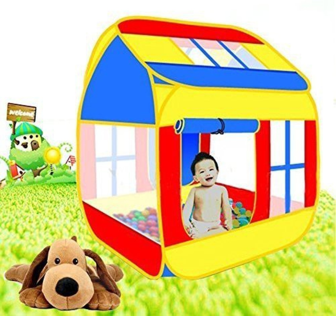 pigloo pop up play tent house for kids indoor and outdoor large