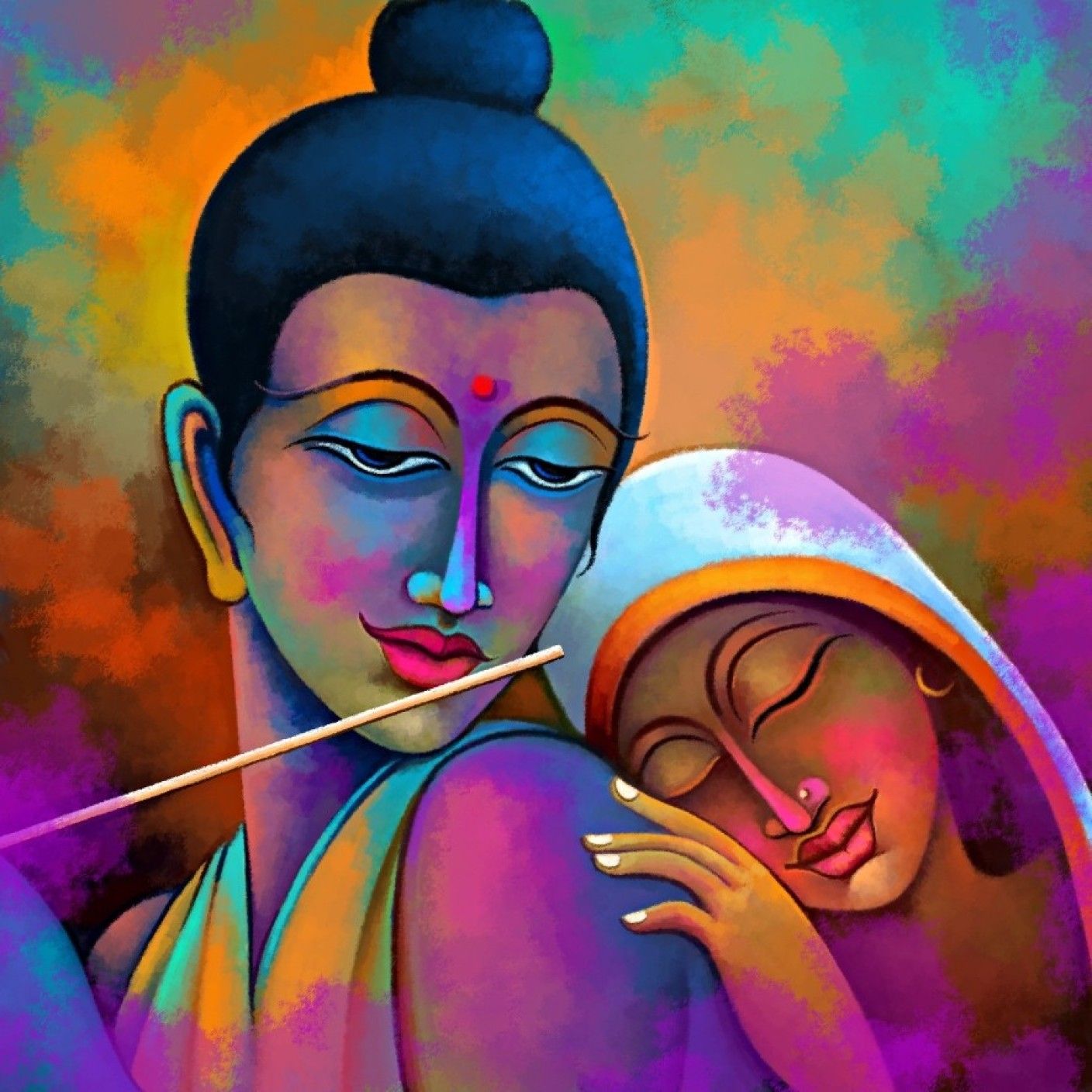 Radha Krishna Painting Canvas Art