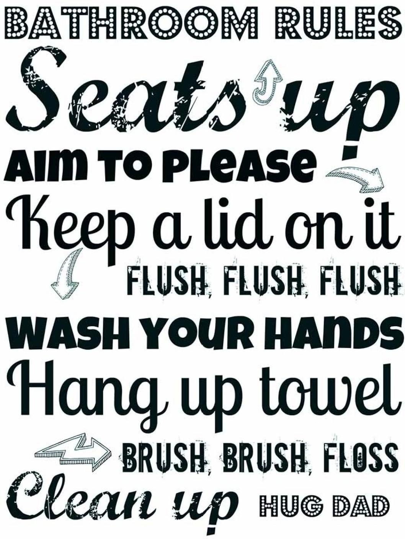bathroom etiquette. Bathroom Etiquette Fine Art Print Share