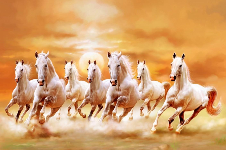 7 running horse wallpaper desktop background: Athah Poster A12 Running Horses Paper Print Paper Print