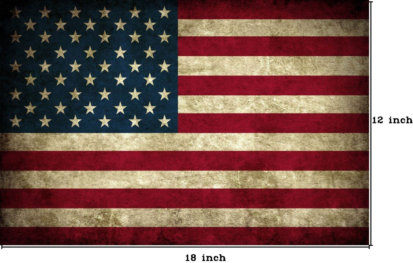 Grunge Usa Flag Paper Print Educational Posters In India