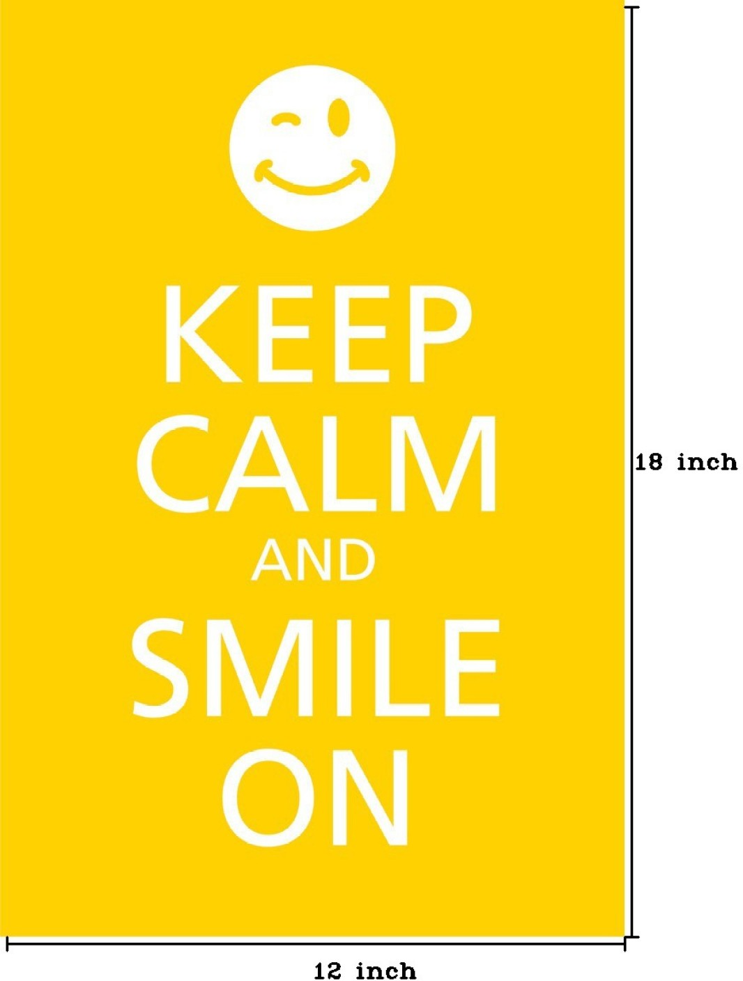 Keep Calm And Smile On Paper Print Quotes Amp Motivation