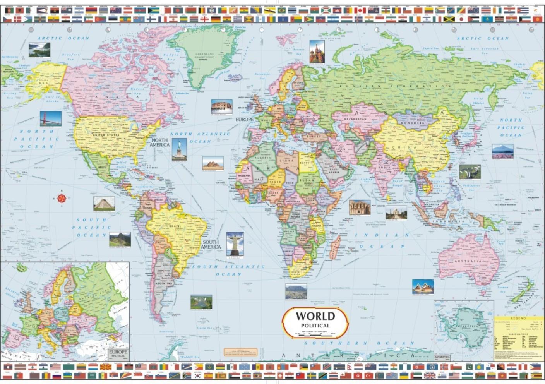 World Political Map Paper Print