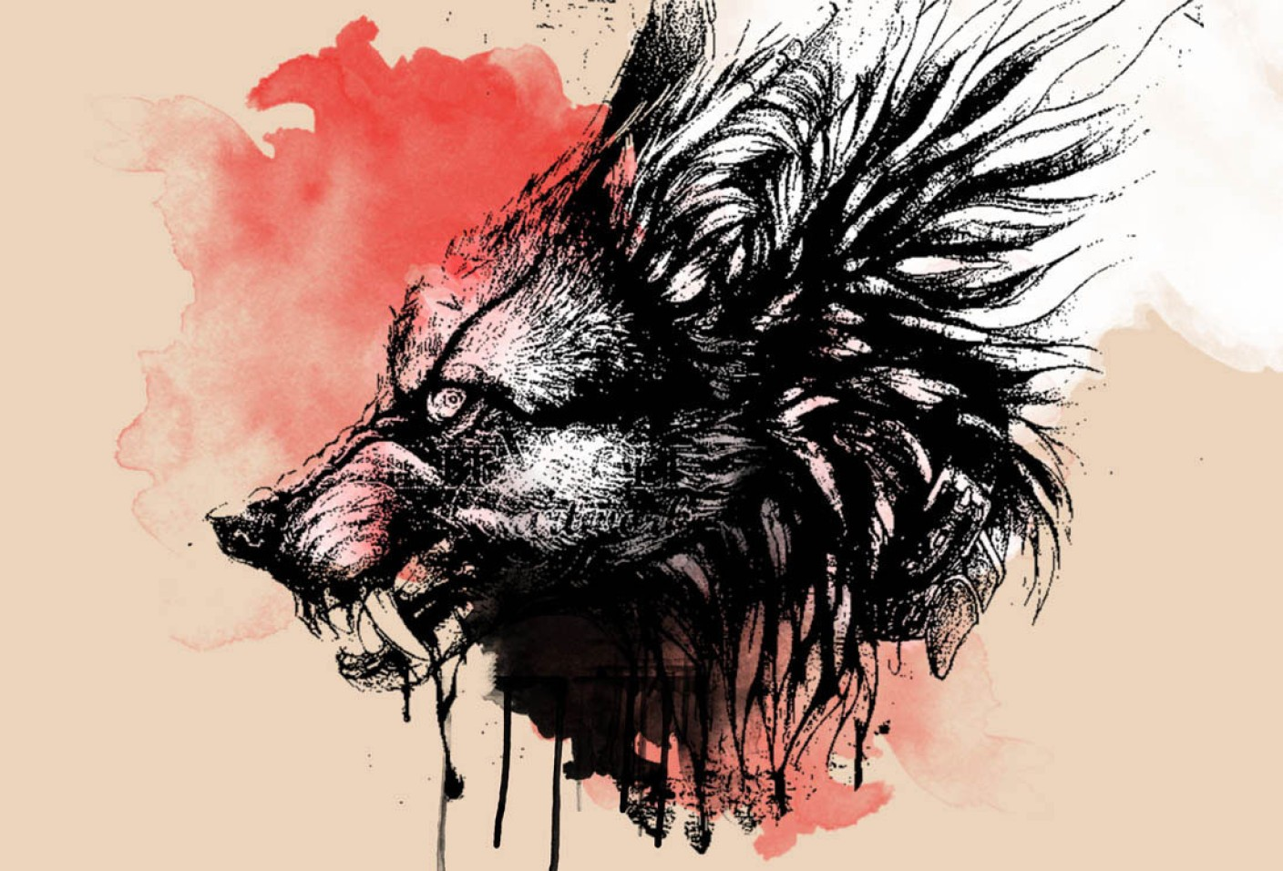 Abstract Wolf Paper Print Abstract Posters In India