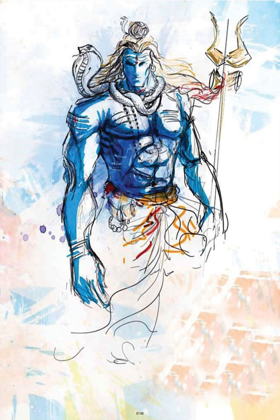 Hungover Lord Shiva Art Special Paper Poster Paper Print