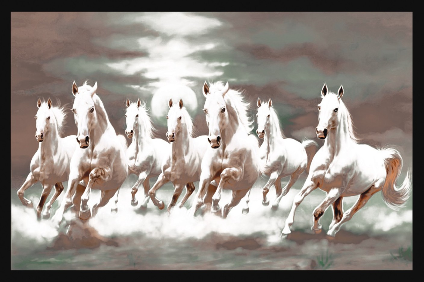 7 Horse Running Wallpaper