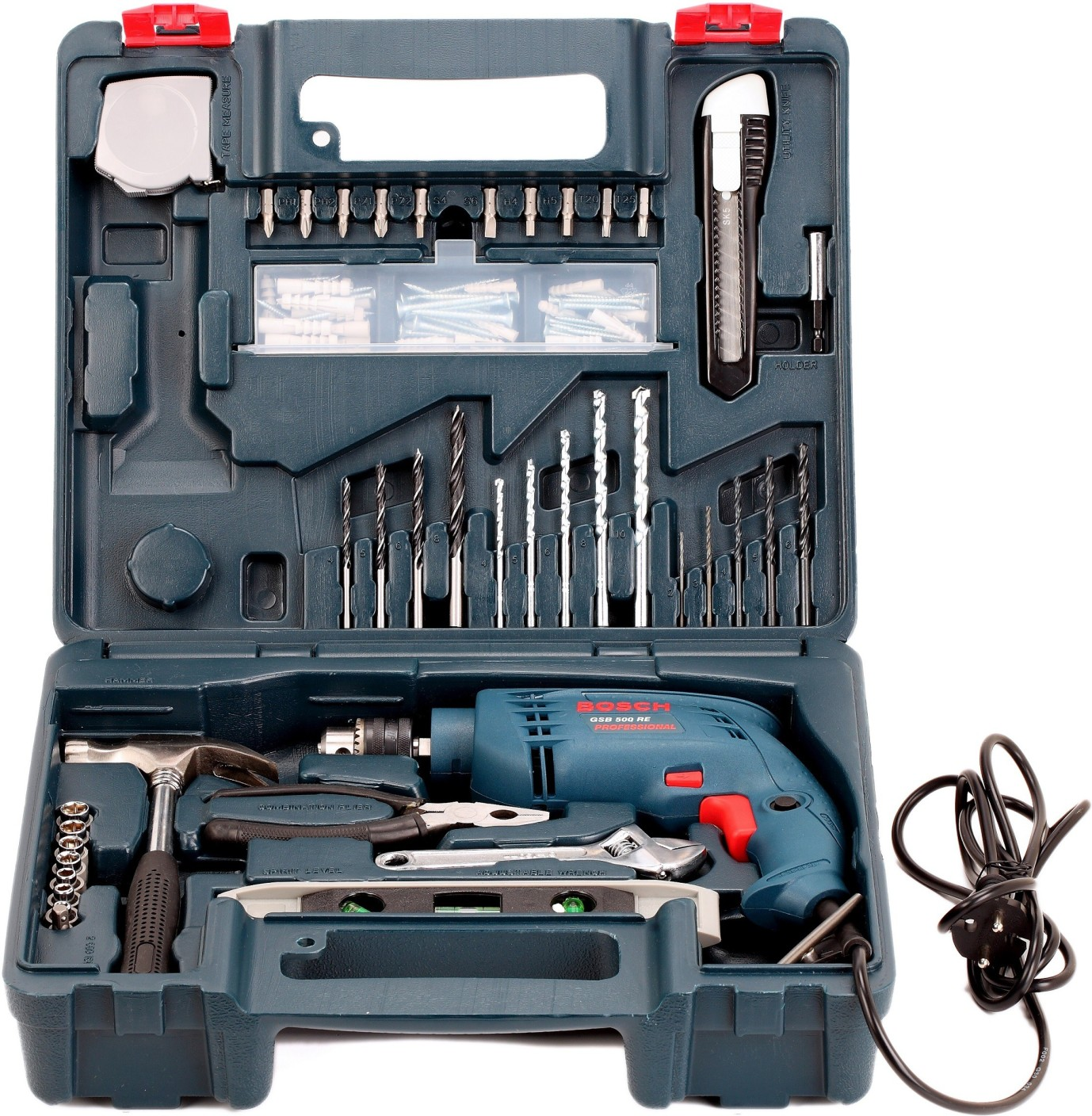 Pricing Tool: Bosch GSB 500 RE Power & Hand Tool Kit Price In India