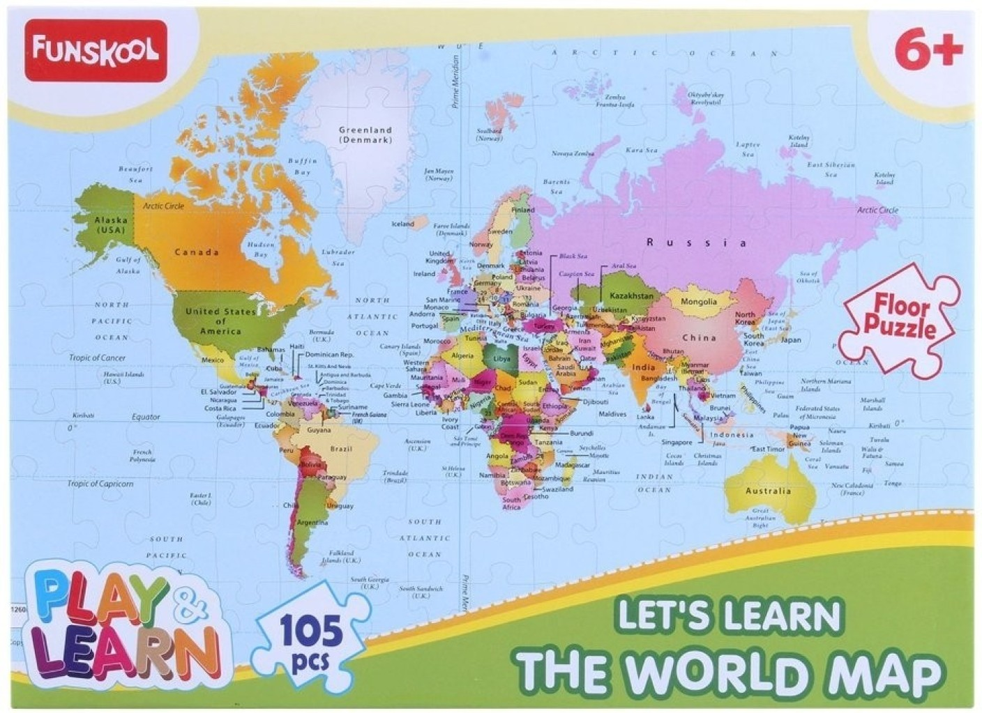 Funskool world map puzzles educational game world map puzzles funskool world map puzzles educational game on offer sciox Image collections