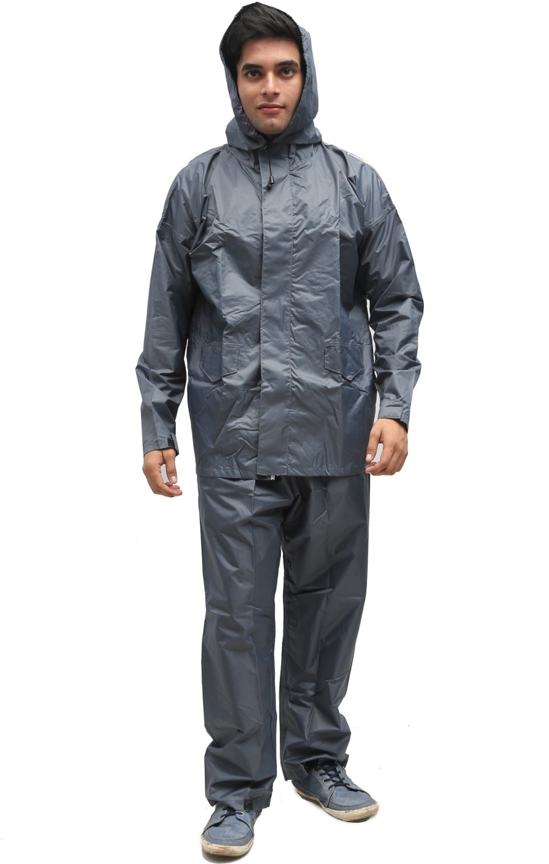 Duckback Solid Men's Raincoat - Buy grey Duckback Solid ...