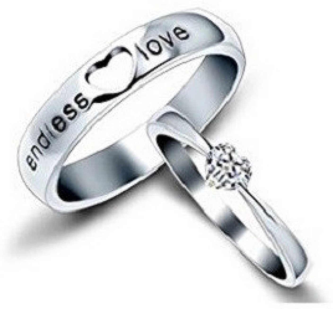 Girlz! endless love couple Alloy Ring Set Price in India - Buy ...