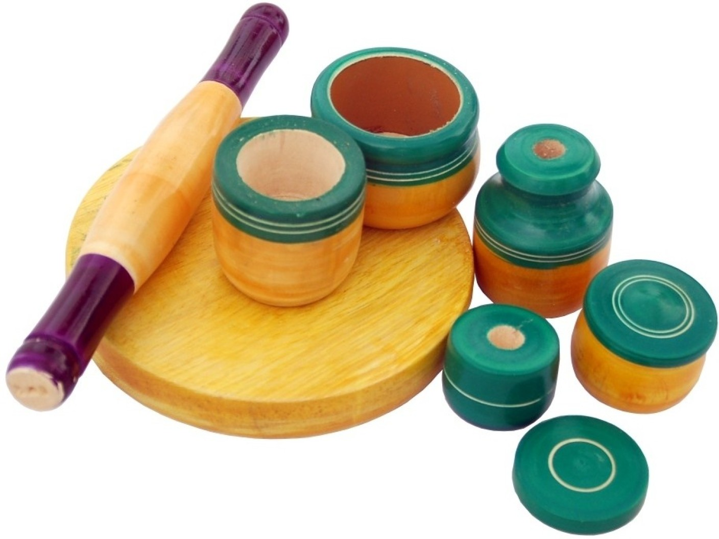 Villcart wooden toy kitchen set green wooden toy kitchen for Kitchen set from the 90 s