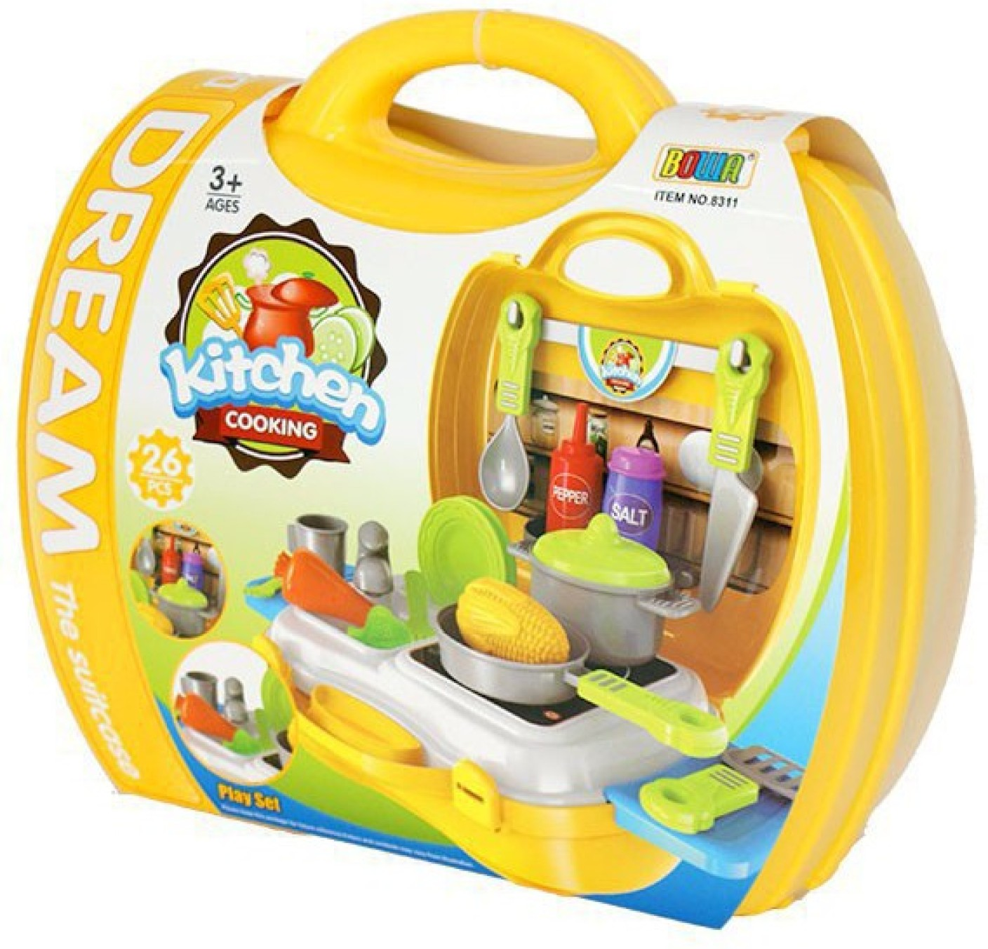 Bowa toys kitchen set for children with carry case toys for Kitchen set from the 90 s