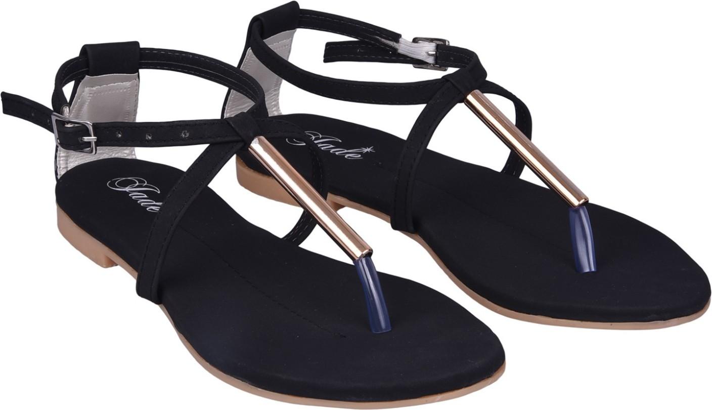 Womens sandals flipkart - Jade Women Black Flats
