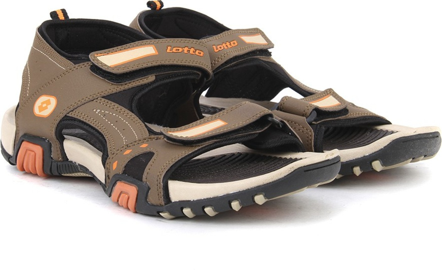 Lotto Men Brown Beige Sports Sandals Buy Brown Beige