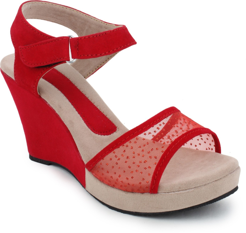 Womens sandals flipkart - Red