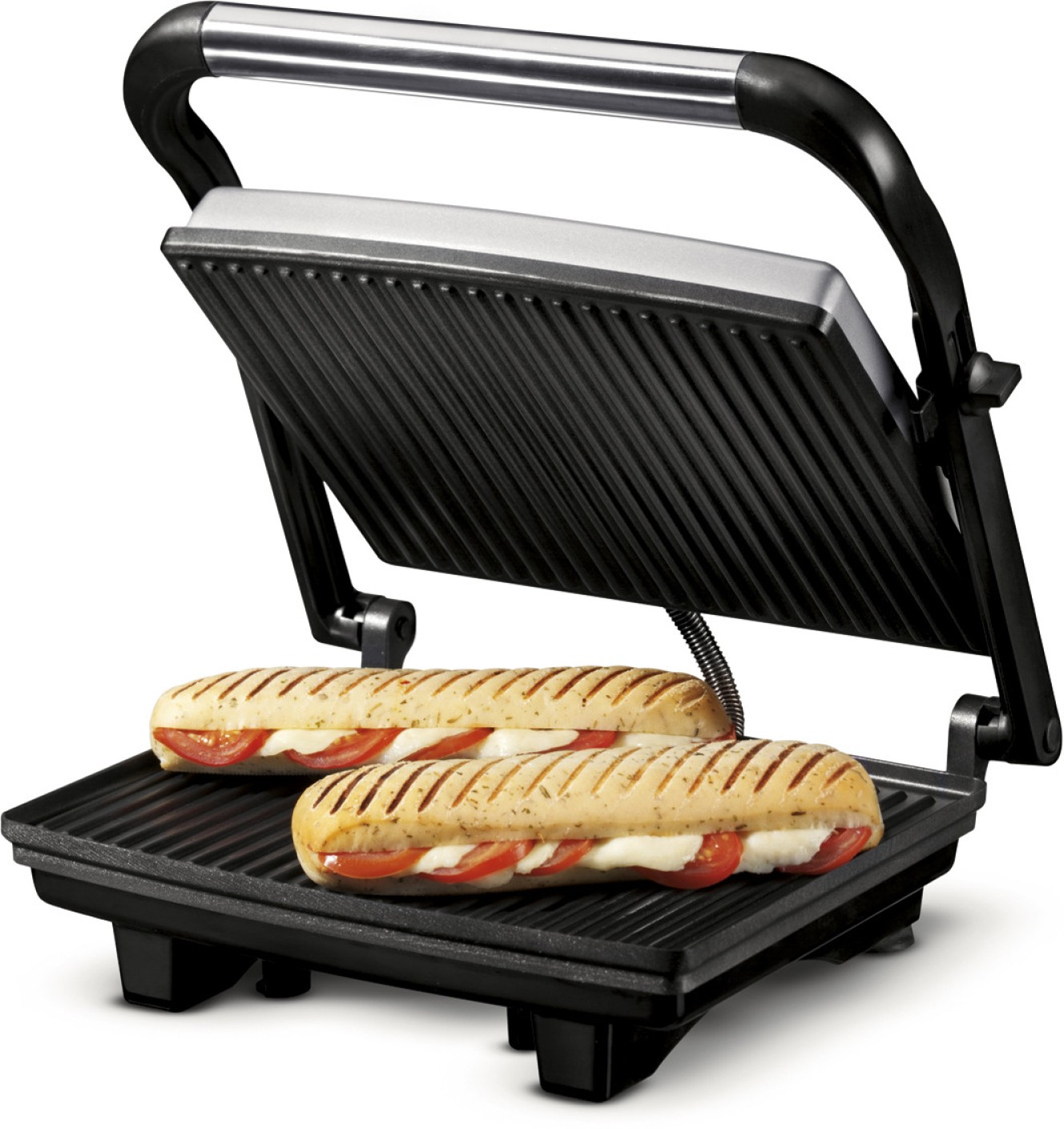 nova 2 slice panini grill sandwich press grill toast. Black Bedroom Furniture Sets. Home Design Ideas